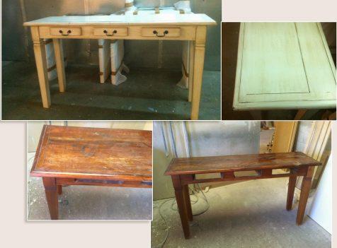 תיקון ושיפוץ שולחן עץ ישן